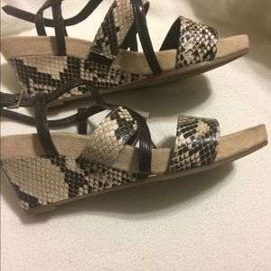 Suede &Snake Motif Wedges by AEROSOLES - NWOT